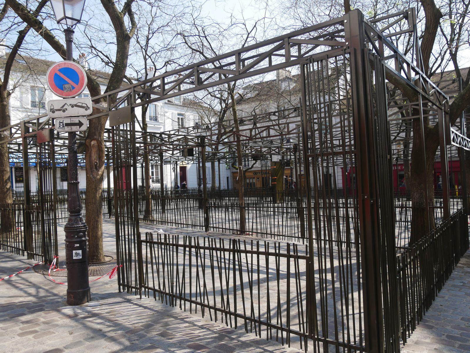 Montmartre. Photos du confinement. Du 15 mars au 15 avril.
