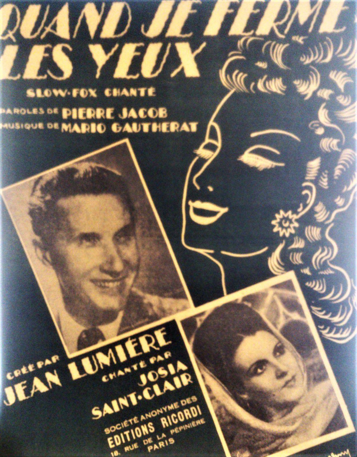 Pierre Jacob. Un chansonnier de la rue Lepic. Montmartre.
