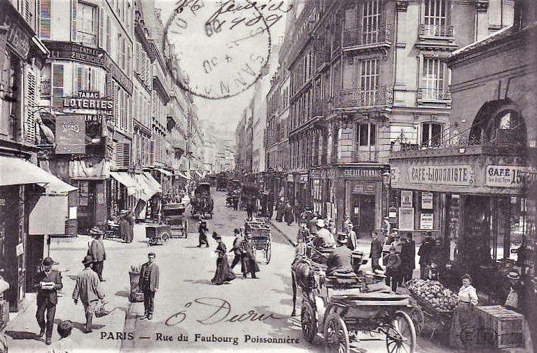 Rue du Faubourg Poissonnière dernière partie entre Lafayette et Magenta