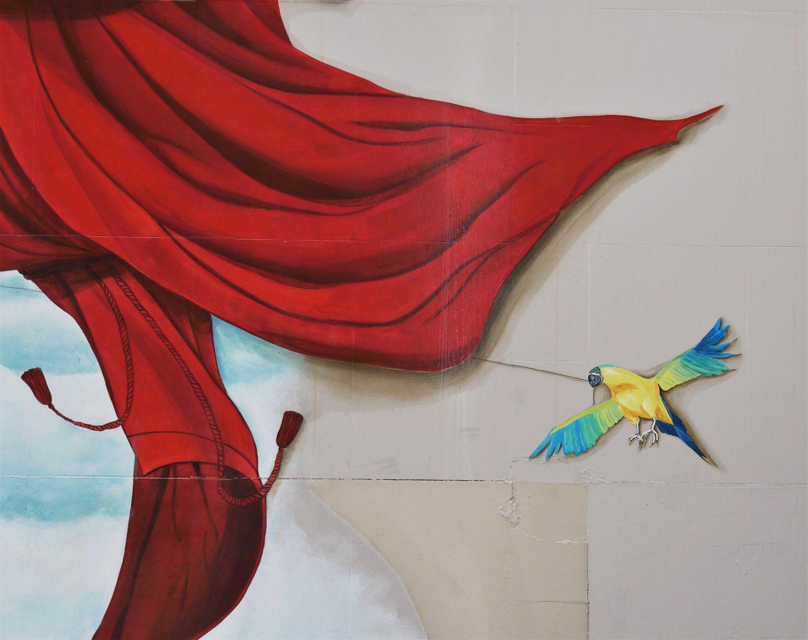 Fresque du cirque rue des Martyrs. Médrano.