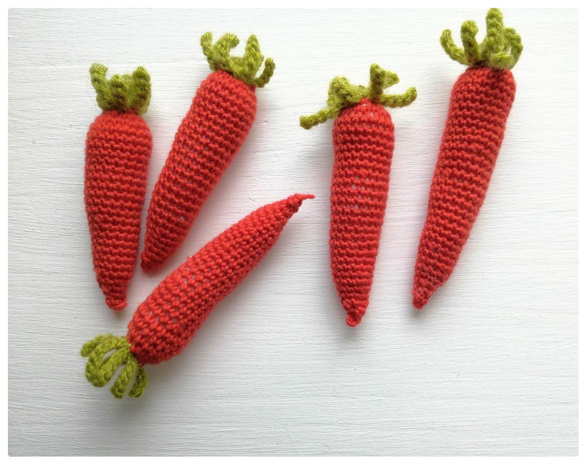 petits légumes au crochet : les carottes