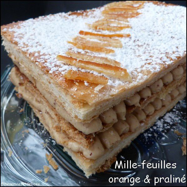 Mille-feuilles orange & praliné
