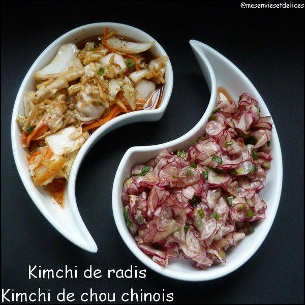 Kimchi de radis et kimchi de chou chinois