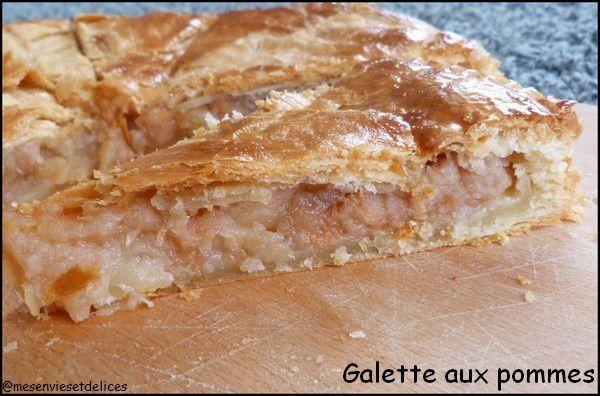 Galette aux pommes caramélisées