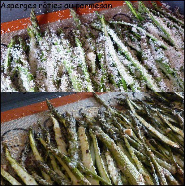 Asperges rôties au four au parmesan