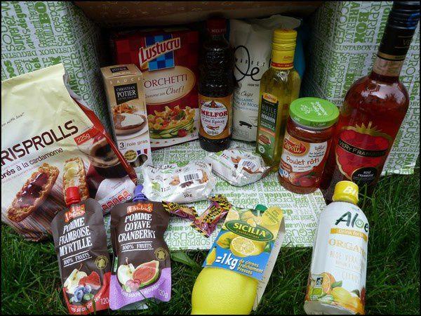 Produits offerts dans la Degustabox de juillet