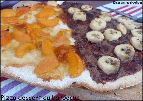 Pizza dessert au barbecue