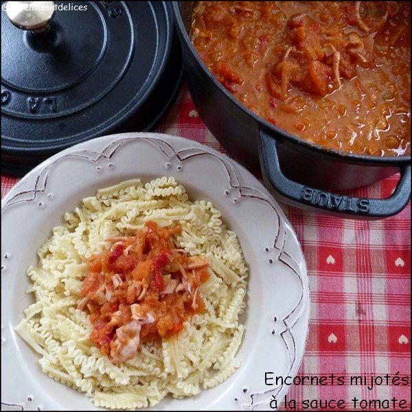 Encornets mijotés à la tomate