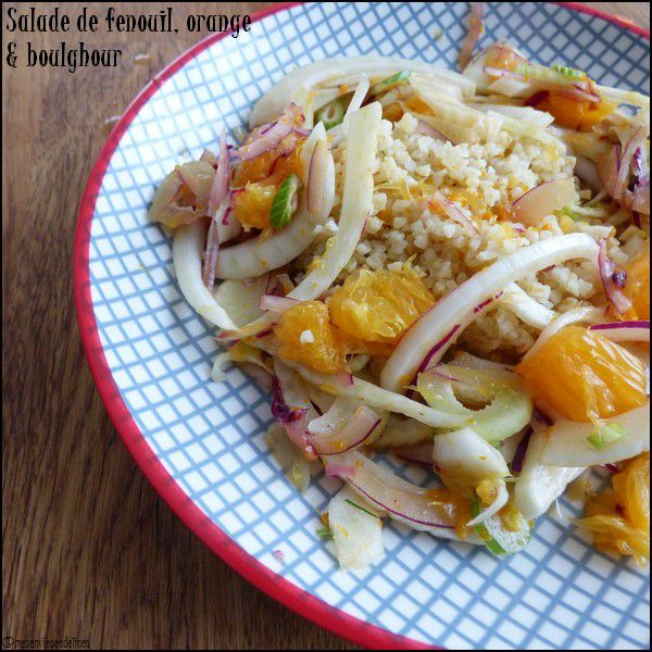Salade de fenouil, orange & boughour