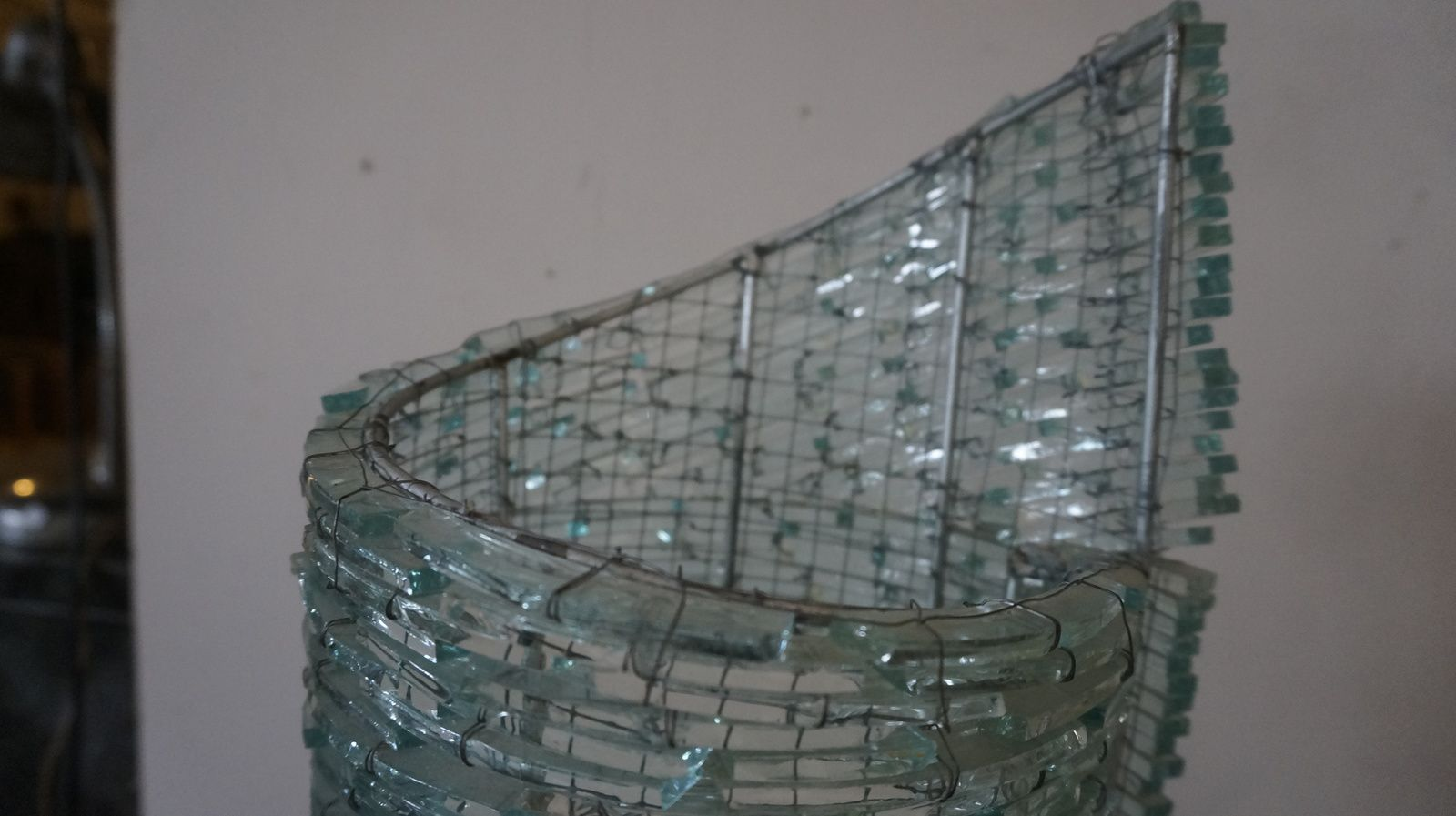 Lampe en verre (vendue)