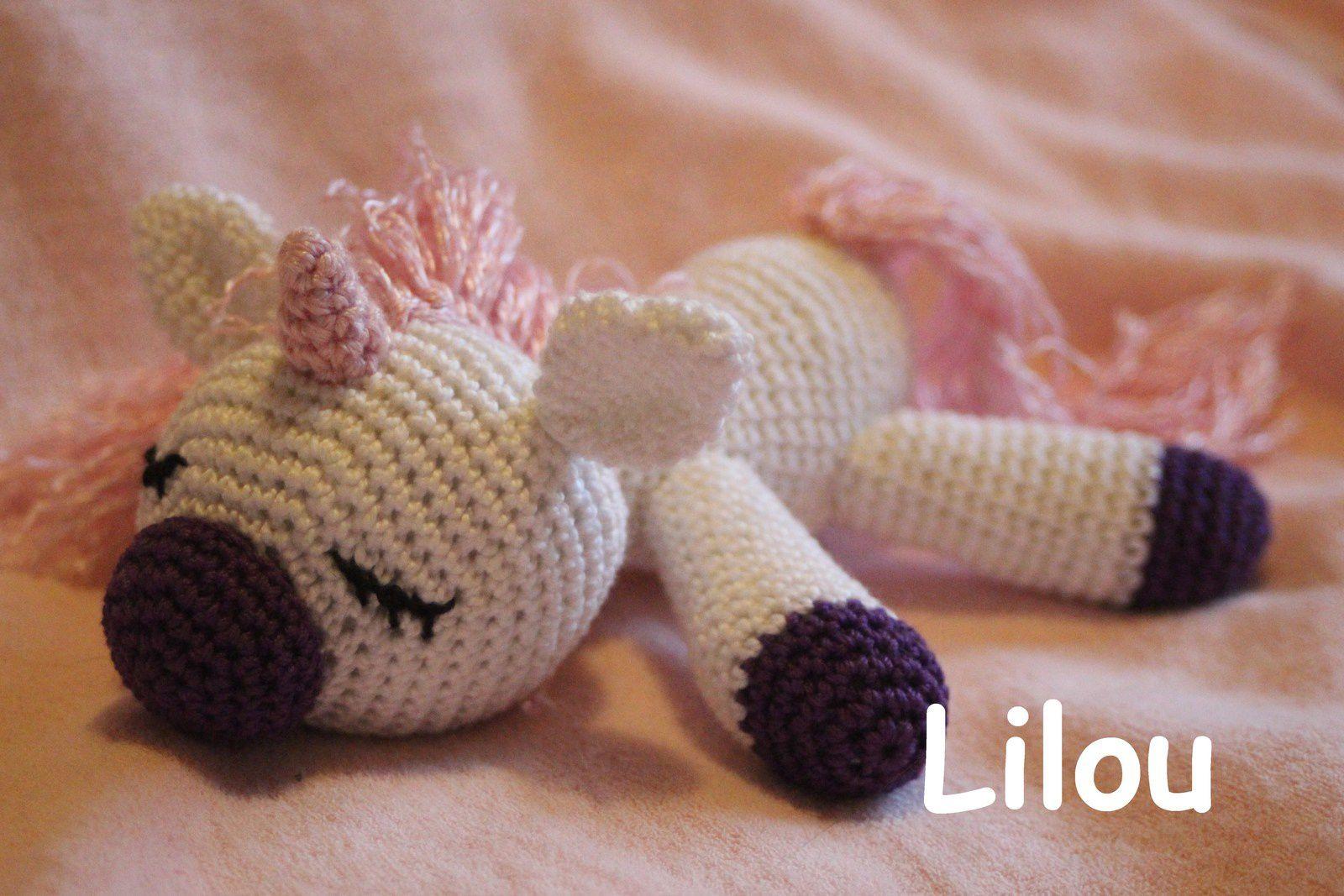 Licorne au crochet DIY modele tuto gratuit