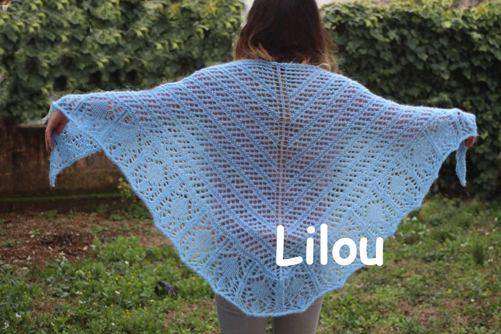 Châle femme au tricot - Glam Shells DIY modele tuto gratuit