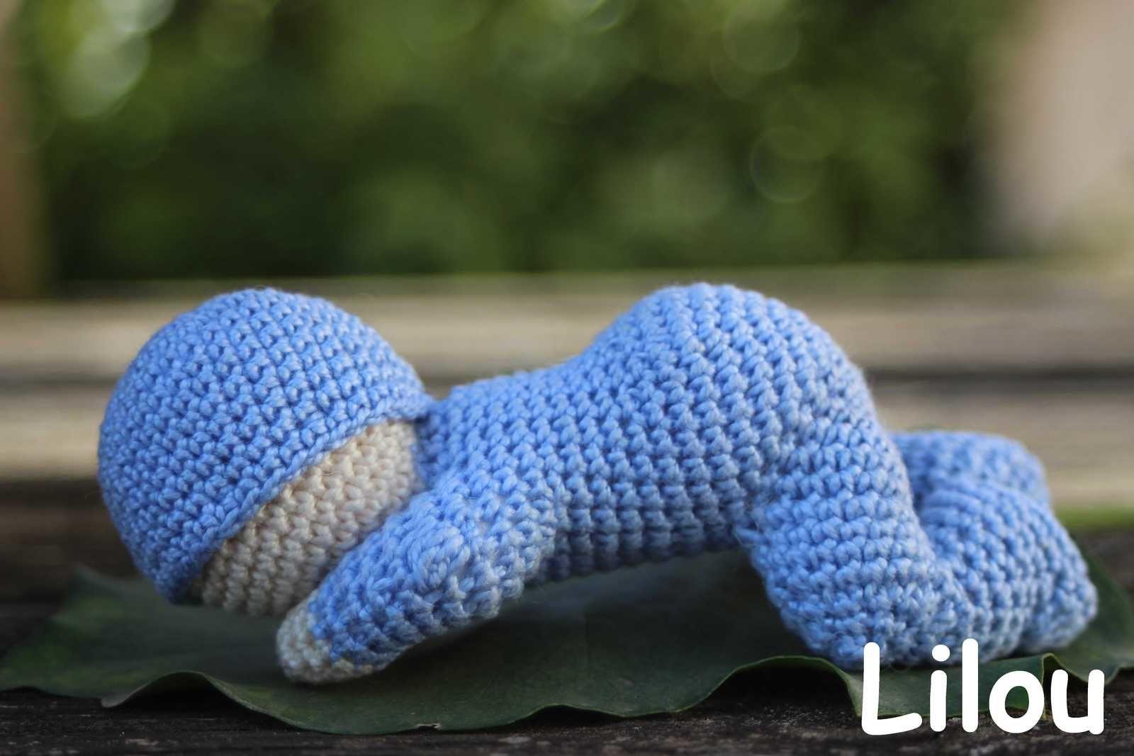 B b endormi au crochet diy modele tuto gratuit labout47 - Tuto pour creer un sac en crochet ...
