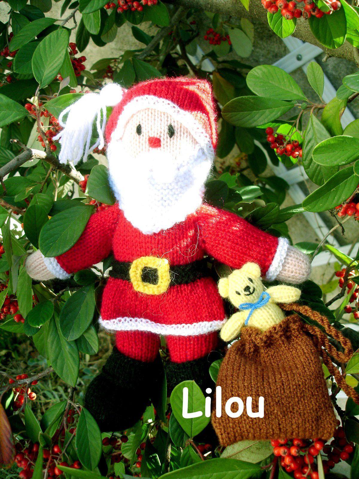 Le père Noël est là.... au tricot