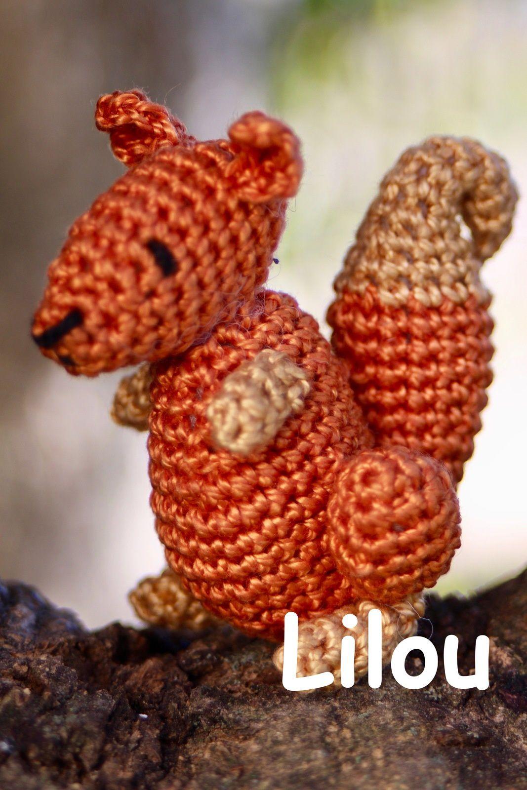 Ecureuil au crochet DIY modele Tuto gratuit