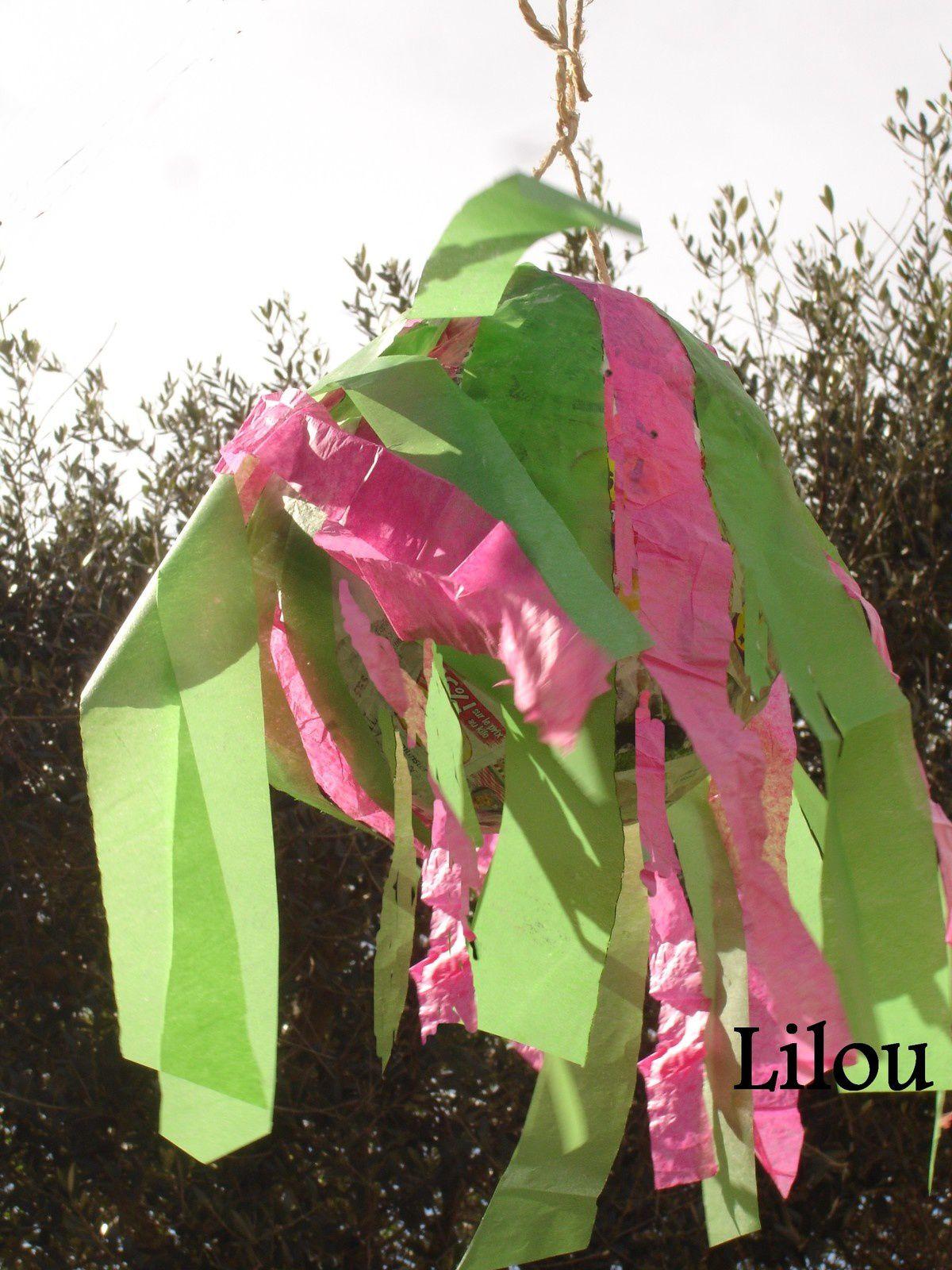 Une piñata de printemps - modèle gratuit