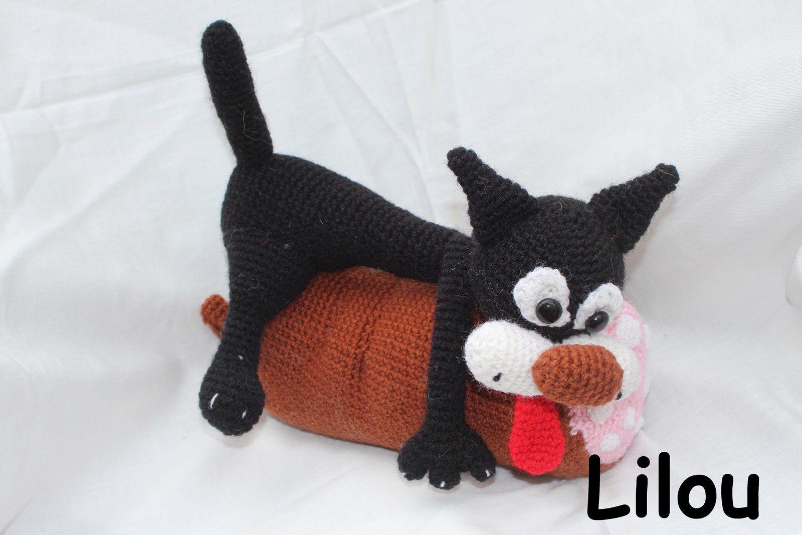 Chat au saucisson au crochet DIY modèle tuto gratuit