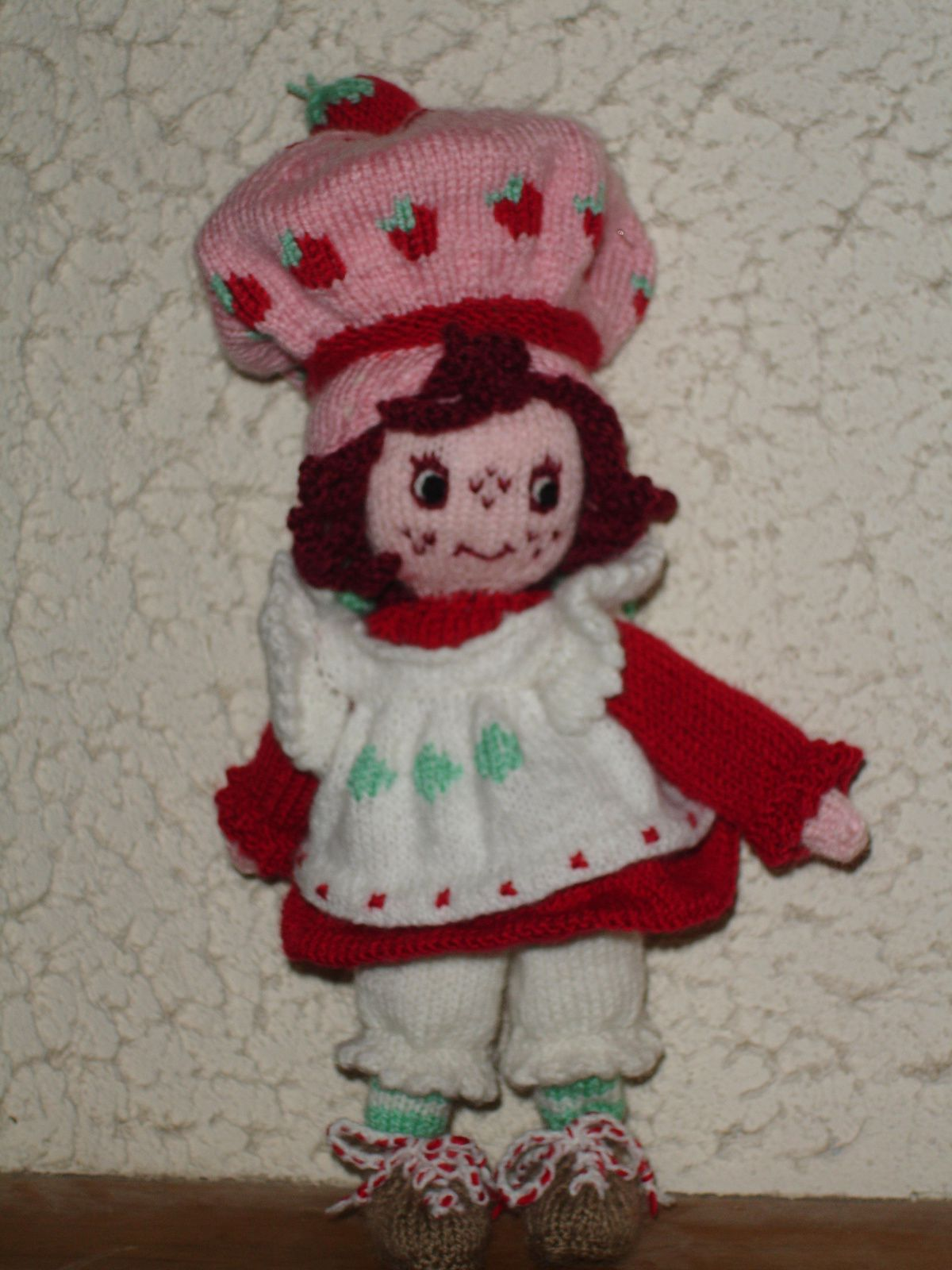 Charlotte aux fraises au tricot