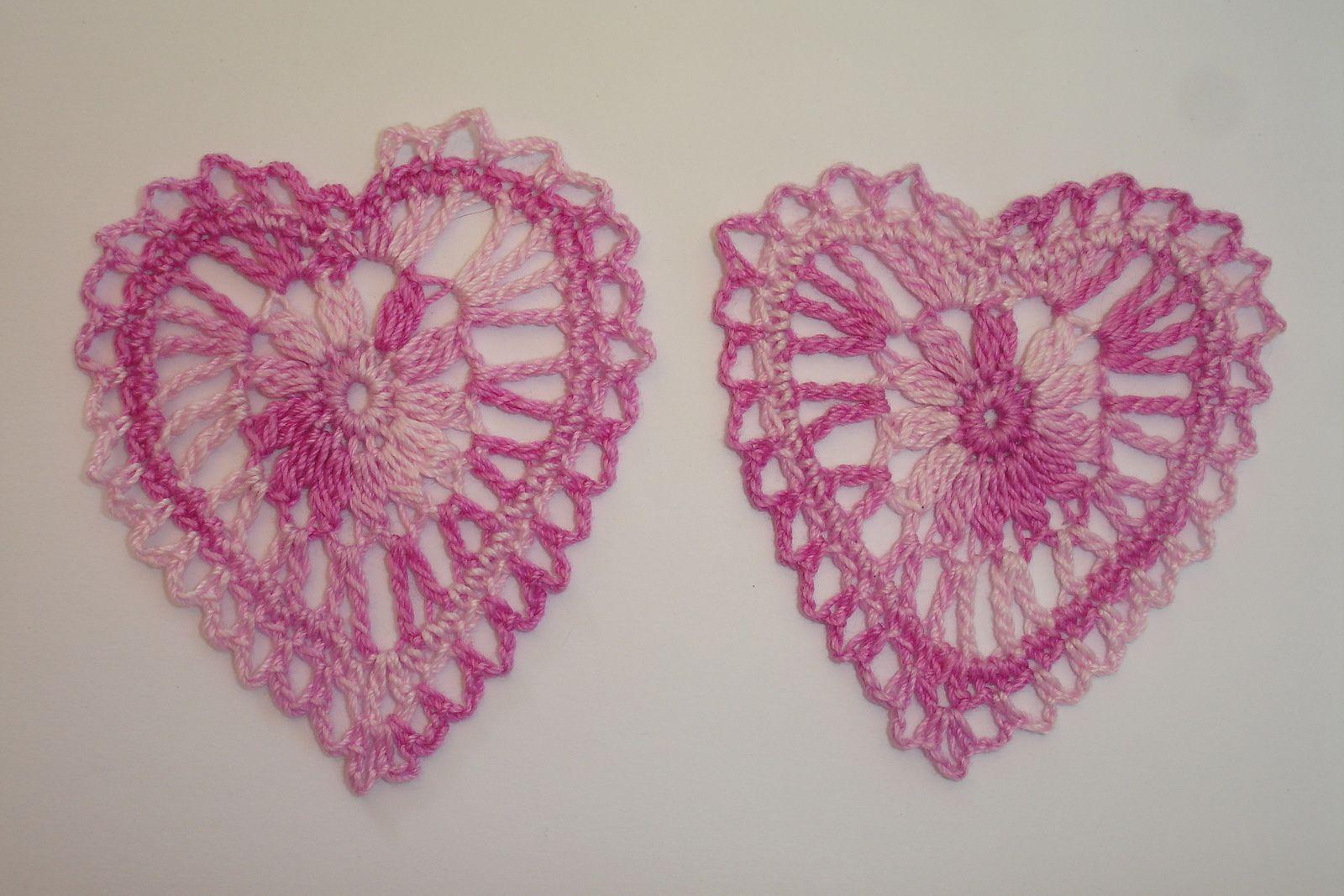 Coeur au crochet - modèle gratuit