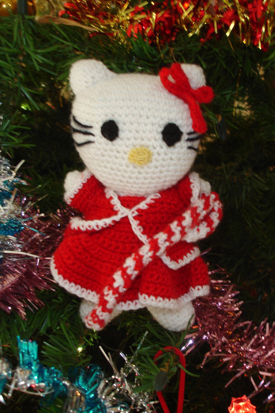 Hello Kitty au crochet - Noël