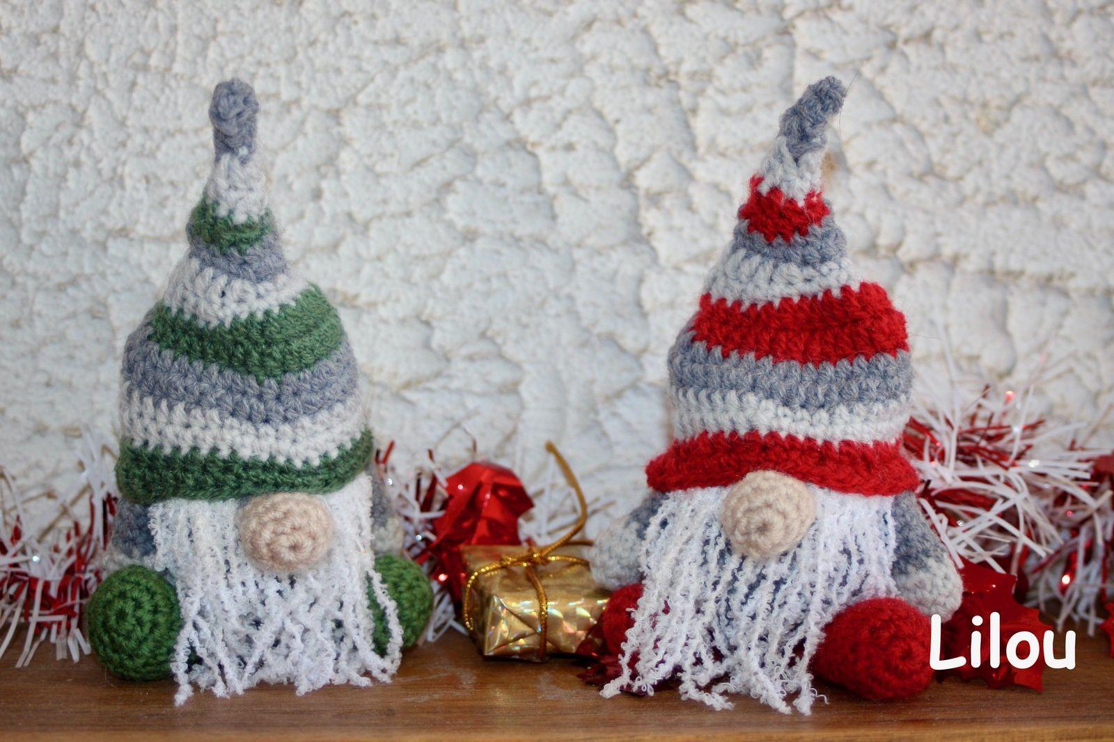 Gnome de noel au crochet DIY modele tuto gratuit