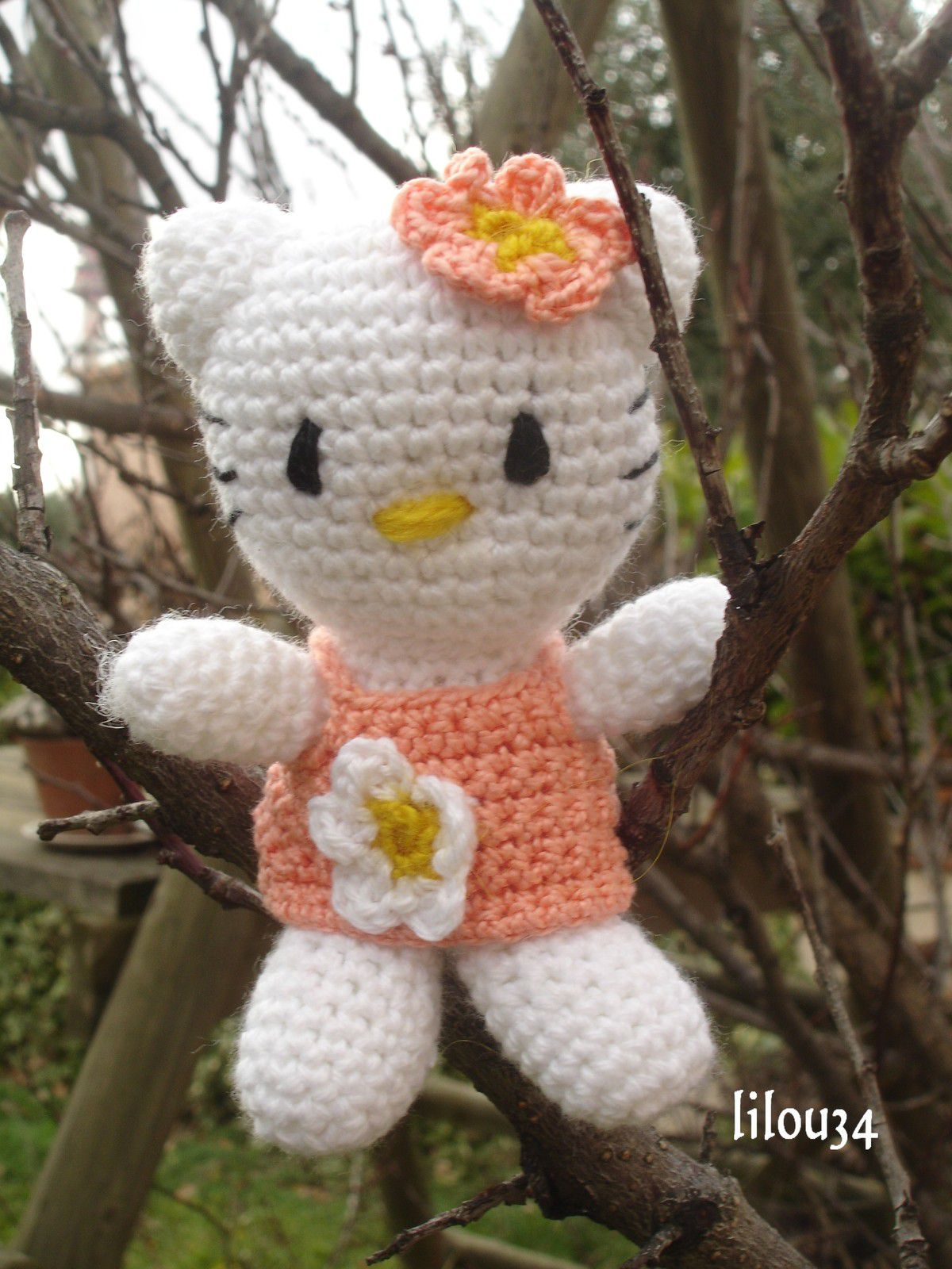Hello Kitty au crochet - toute simple