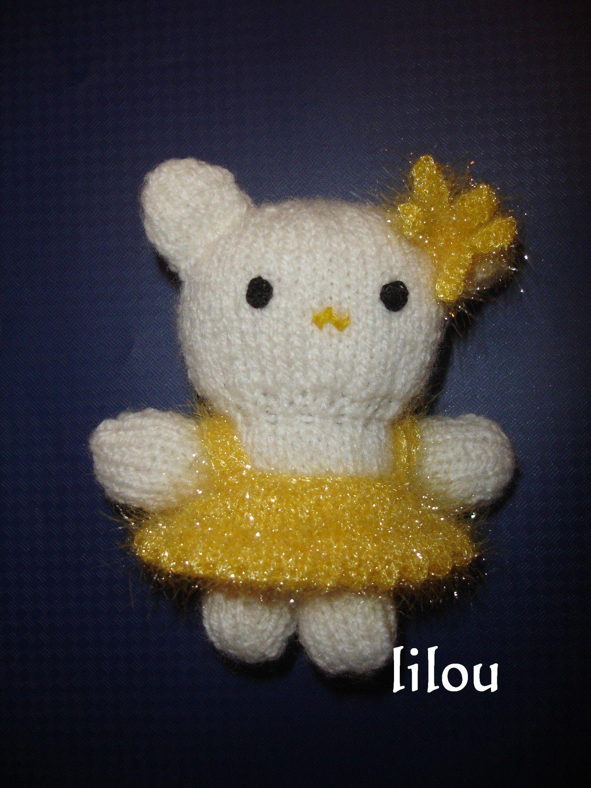 Hello Kitty au tricot DIY modèle tuto gratuit