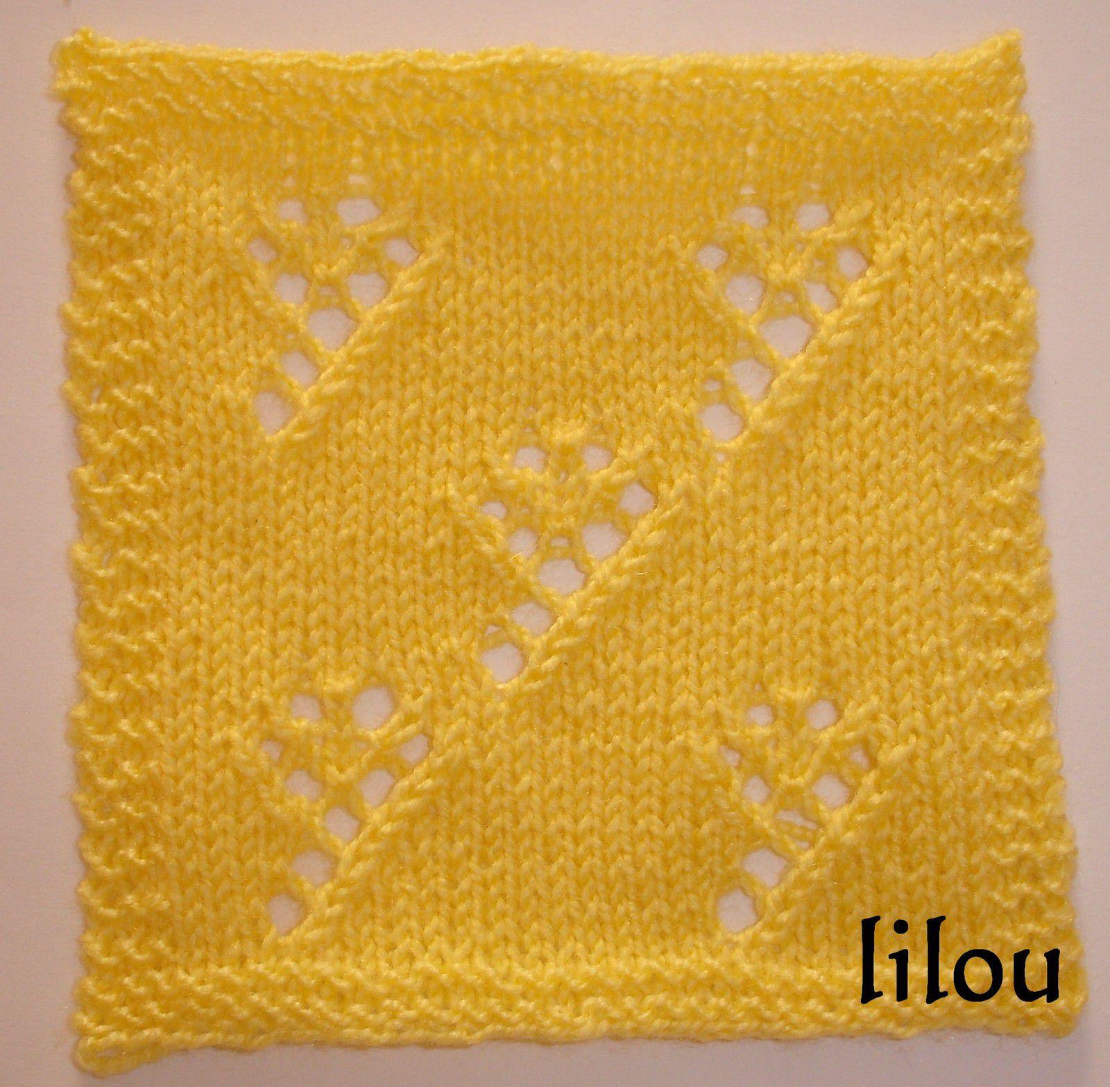 Plaid de printemps au tricot - 2ème carré