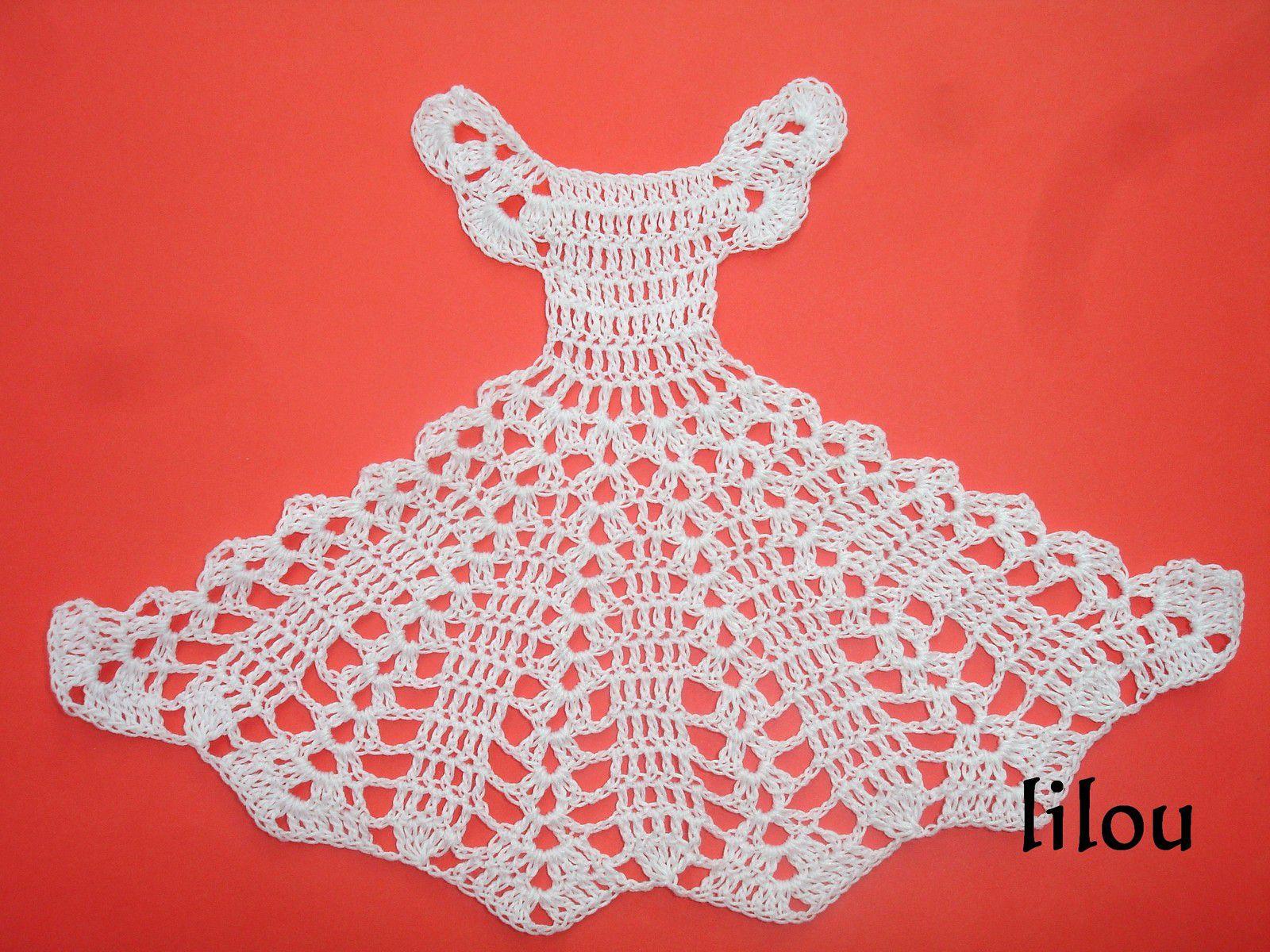 Petit robe au crochet DIY modele tuto gratuit