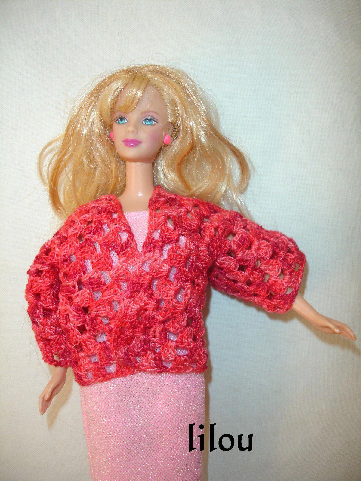 Veste Barbie au crochet DIY modele tuto gratuit