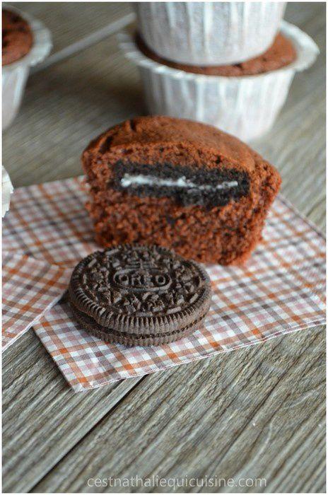 Muffins chocolat et Oréo