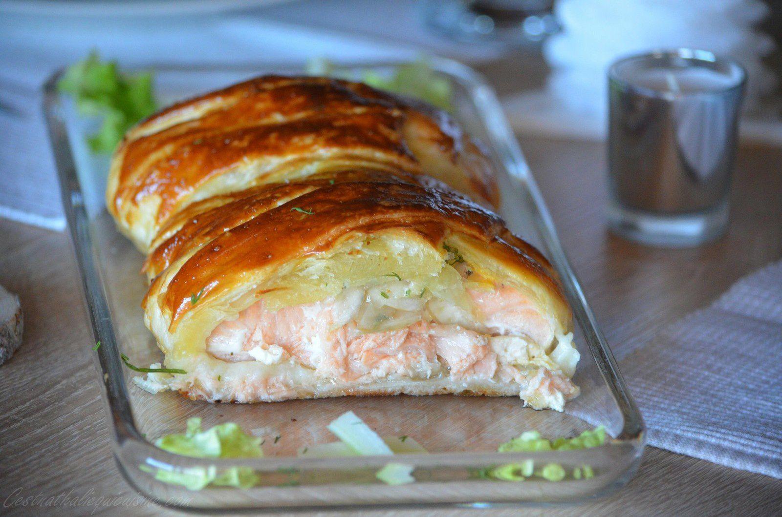 Feuilleté de saumon au fenouil et à l'aneth