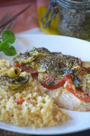 Filets de dinde à la tapenade et légumes d'été parfumés au basilic et herbes de provence {cuisson à l'omnicuiseur vitalité}