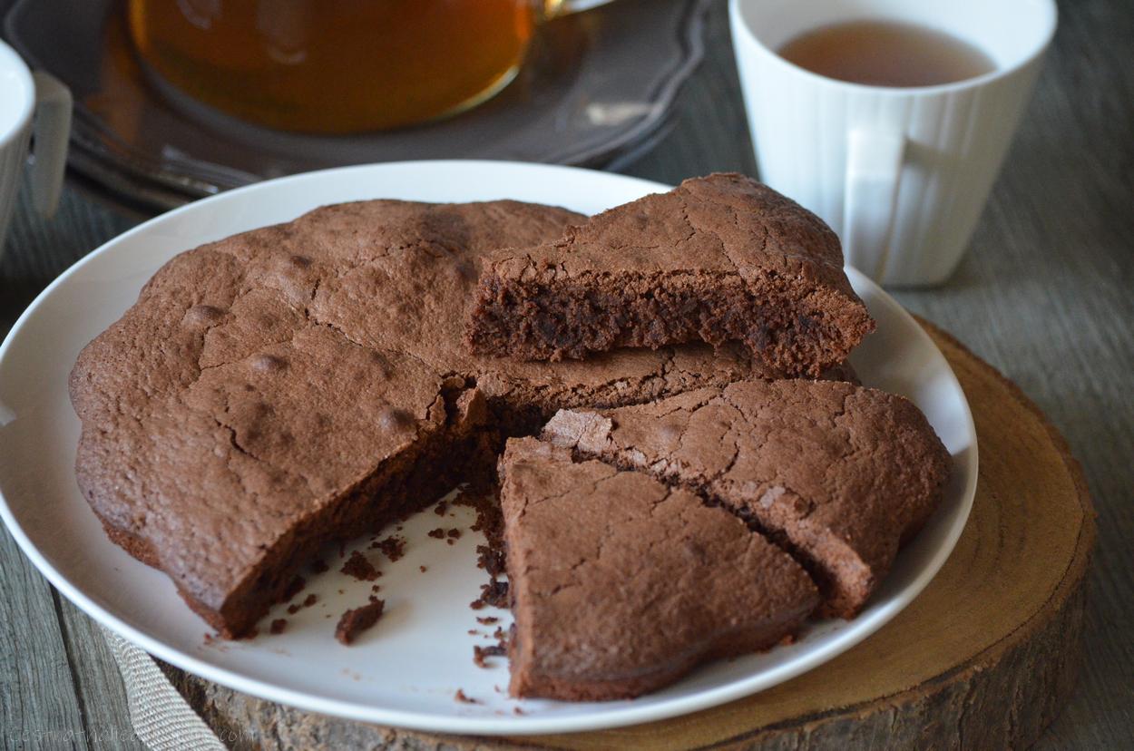 Gâteau au chocolat Reine de Saba {sans farine et sans gluten)
