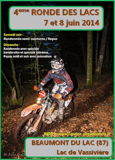 4 ème Ronde des Lacs (87) le 7 et 8 juin 2014