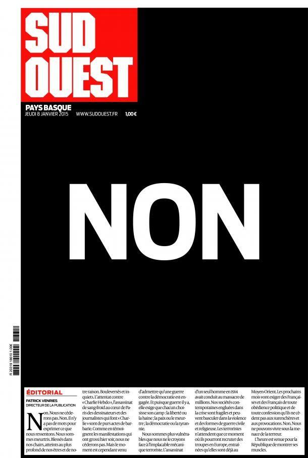 Attentat contre Charlie Hebdo: les Unes de la presse française