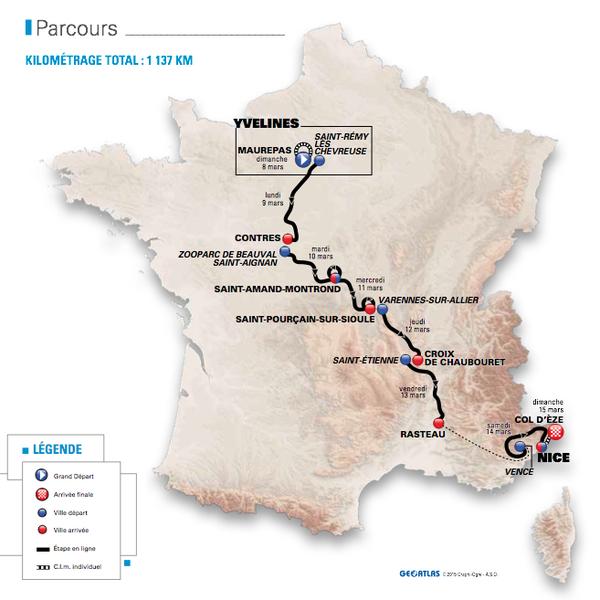Paris-Nice 2015 à suivre sur France 3 et France 4 du 8 au 15 mars