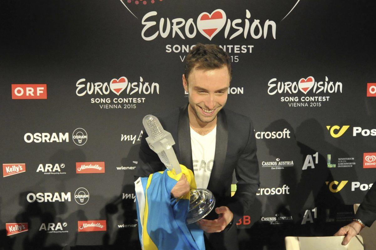 Mans Zelmerlow - Eurovision 2015 (Andres Putting (EBU))