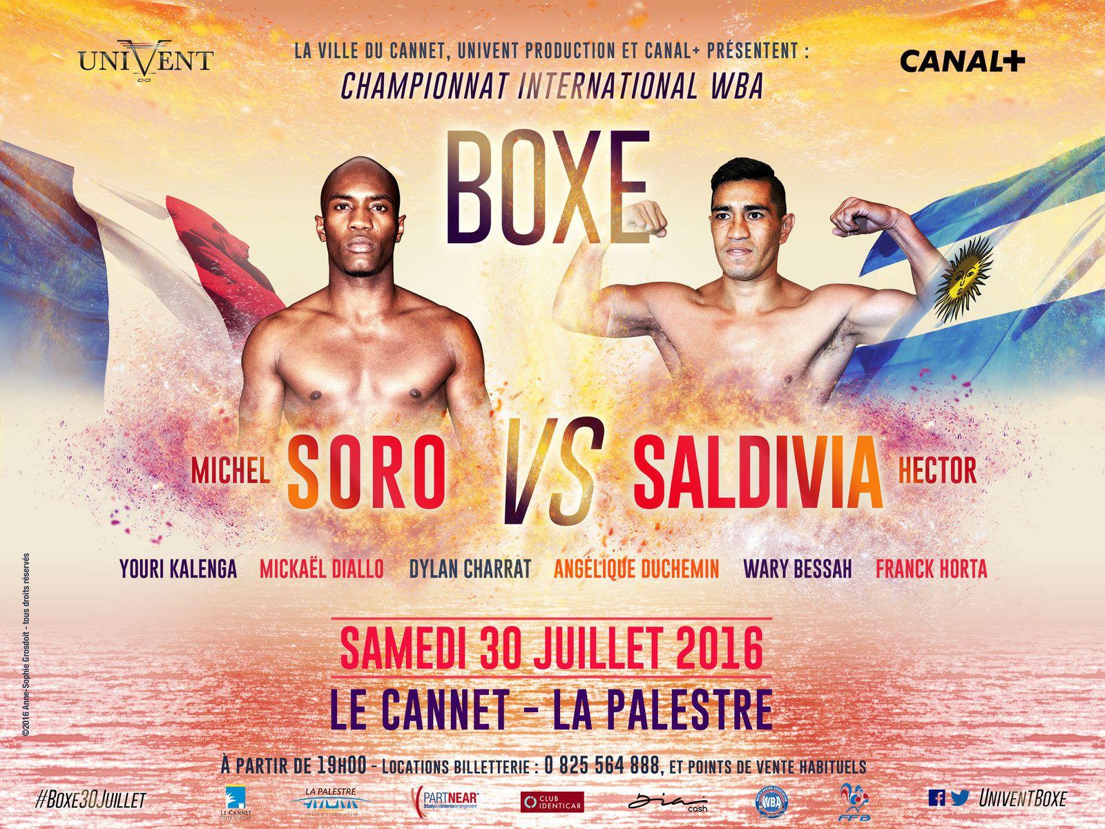 Boxe - Combat Michel Soro/Hector Saldivia à suivre ce samedi sur Canal+