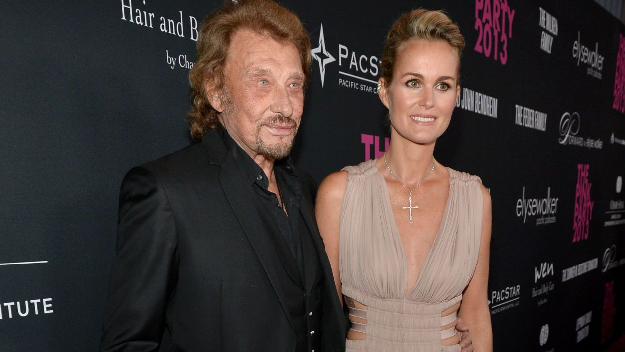 Johnny Hallyday et Laeticia (© Getty Images North America - AFP)