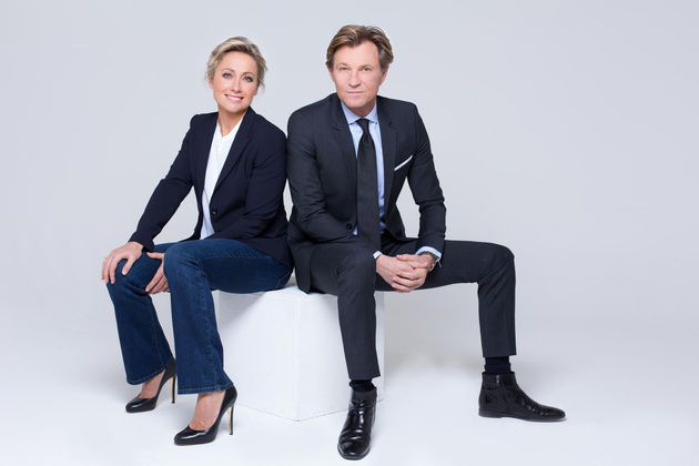 Anne-Sophie Lapix et Laurent Delahousse (© France 2)