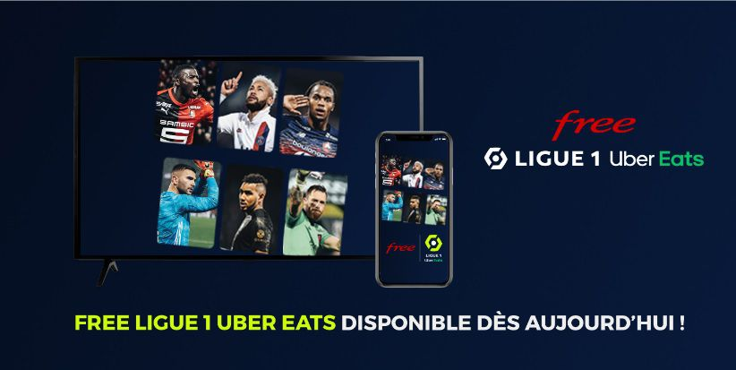 Free lance son application pour la Ligue 1 Uber Eats