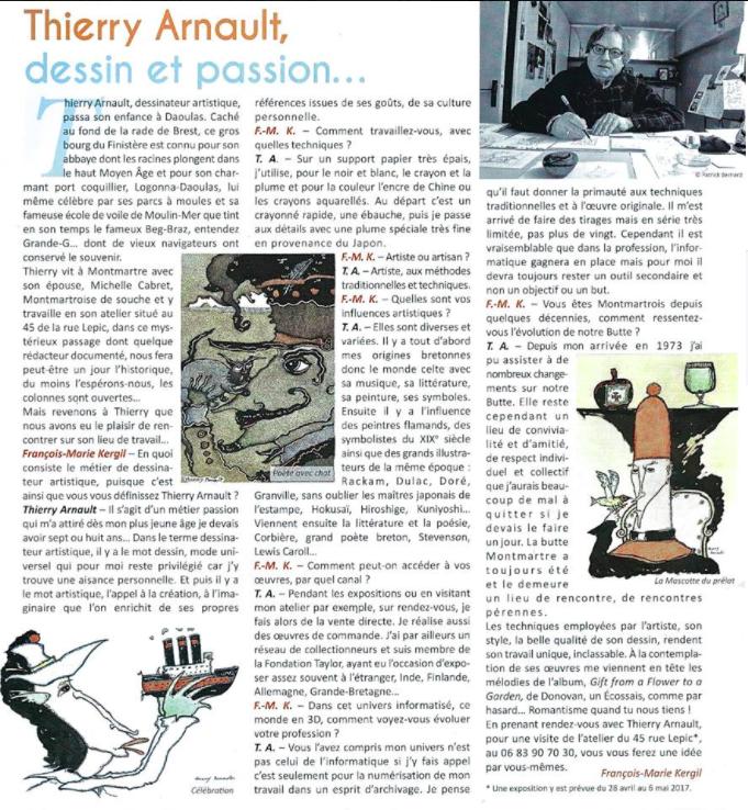 Thierry Arnault, un artiste montmartrois