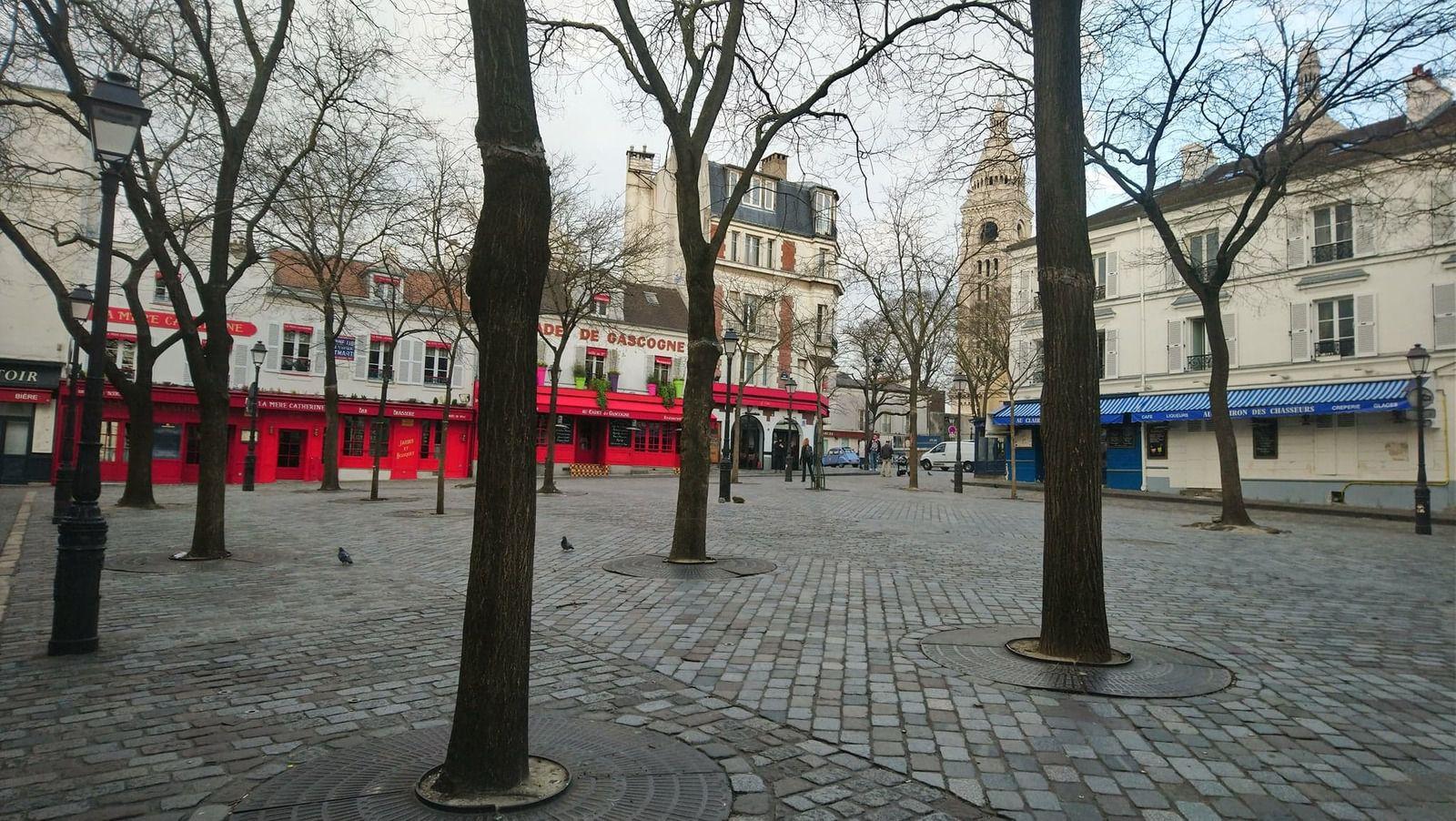 Montmartre le premier jour du confinement