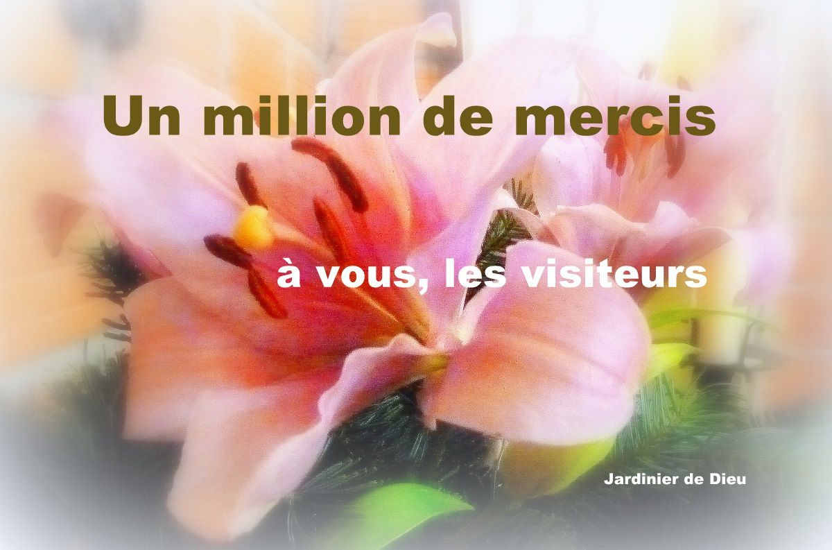 """Un million de mercis à vous tous… Belle fête """"Ascension du Seigneur"""" !"""