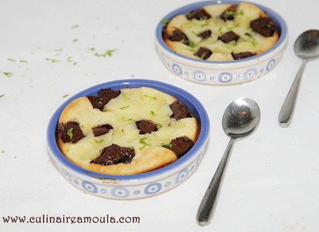Clafoutis au chocolat et citron vert