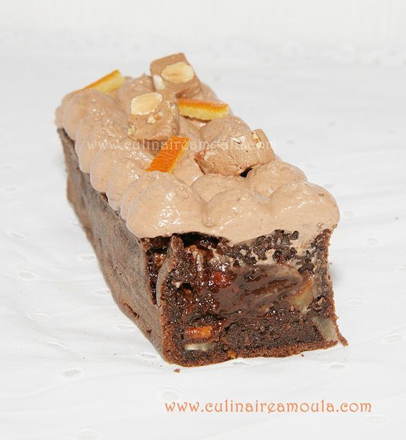 Brownie nougat et zestes d'orange confits