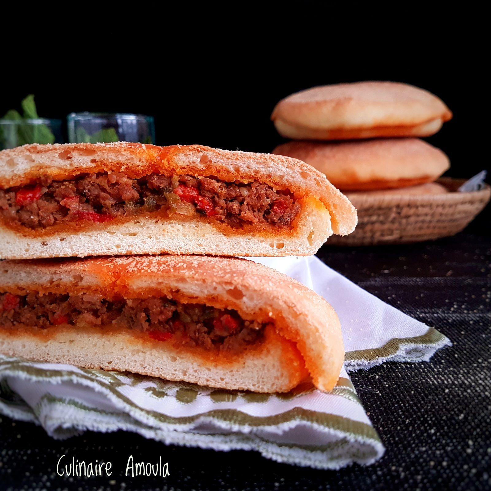 """Khobz """" pain """" farci à la marocaire"""