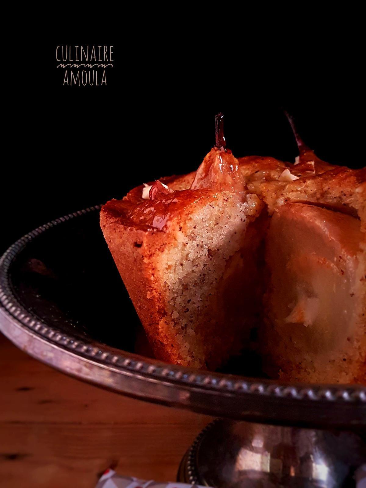 Gâteau aux poires et aux noisettes
