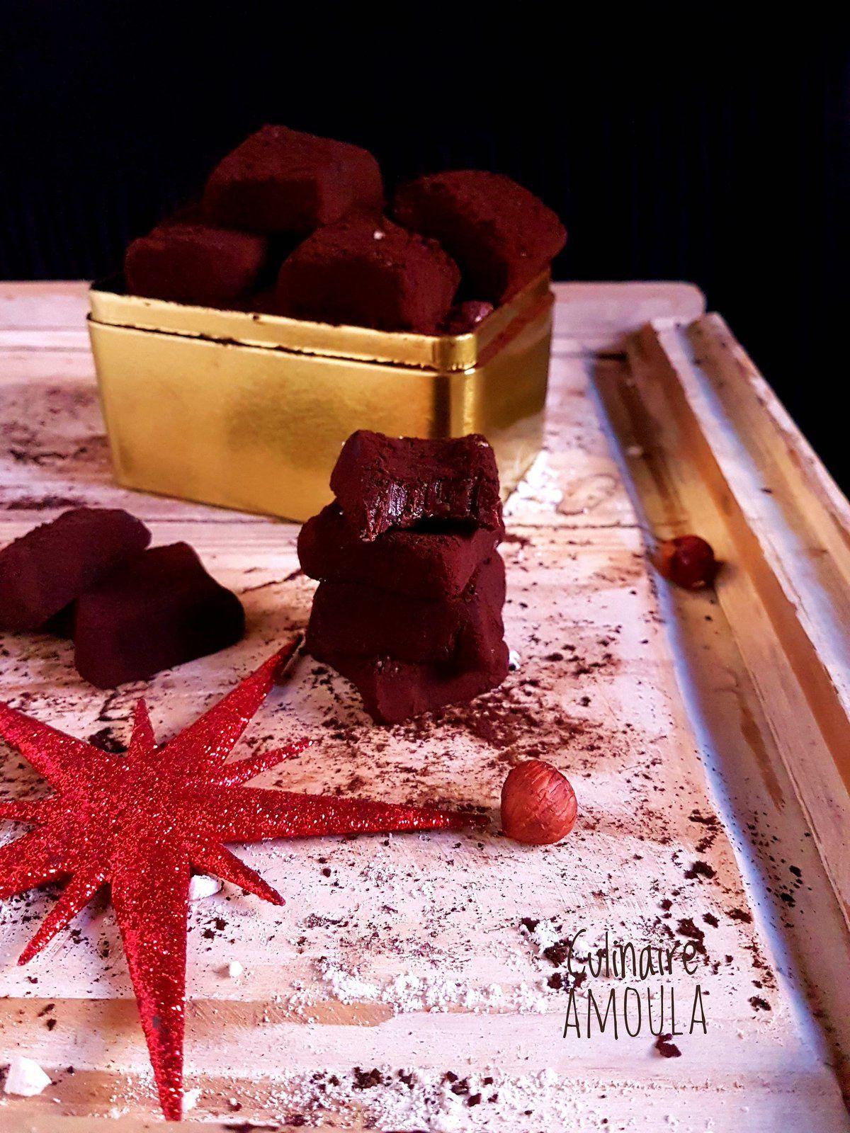 Truffes chocolat-noisettes